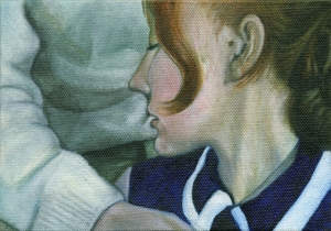 LS#12-PP1968 from the 'Life Stills' series oil paint on canvas board 12×17.5 cm, 2014