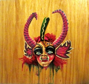 """La Diablada"" acrylic on wood, 24x24"", 2014"