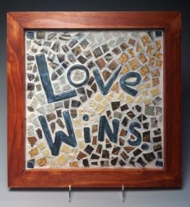 """Love Wins, 16""""x16"""" 2014"""