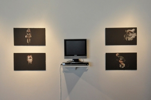 """After Muybridge, After Marey"", Inkjet prints and video, prints: 21""x12"" with 19"" monitor, 2010"