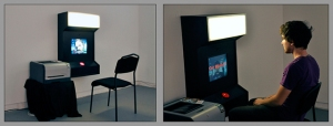 """Pixel-Lapse Photo Booth"" (installed), interactive installation, 12""x24""x36"", 2009"