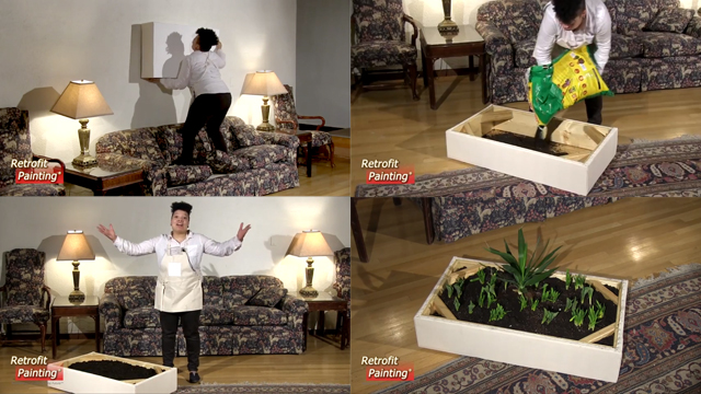 "Video stills from ""How to Make a Garden Painting,"" by Retrofit Painting®. 2014"