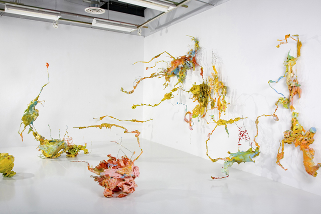 SURGING SEEPAGE - MIXED MEDIA INSTALLATION 2008