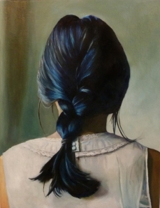 "Braid 26"" x 20"" Oil on canvas"