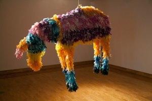 Donkey Piñata. 2010. mixed media. 4.5'x6'x2.5'