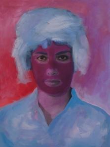 "Untitled (Novak), Mixed Media Painting, 18""x24"",  2014"