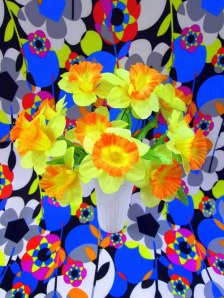 "Can You Dig It? A Chromatic Series of Floral Arrangements (Yellow), digital print on metallic paper, 30""x40"", 2014"