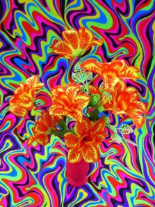"Can You Dig It? A Chromatic Series of Floral Arrangements (Orange), digital print on metallic paper, 30""x40"", 2014"