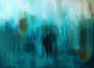 Through, Acrylic on Canvas, 30x40'', 2014