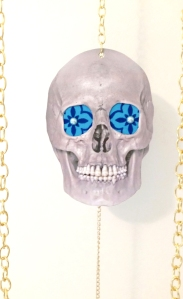 detail of Time (is not on our side) (image of skull)