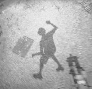 jumping shadow #157 medium: MF analog image, with electronic sensor controlled shutter release size: 20inch x 20inch date: 2013