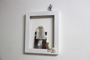 "She'd complain if Jesus Christ came down and handed her a five dollar bill Frame, lavender, collected items, photograph 10"" x 12"" 2014"