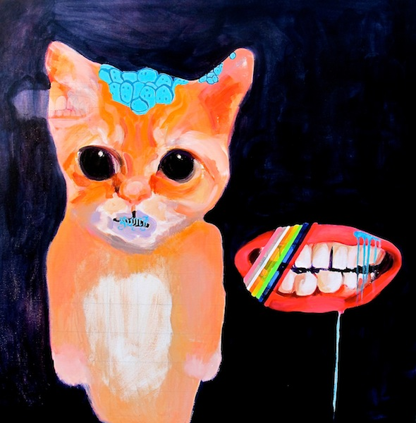 """My Sweetest Friend"" 40x40"" acrylic 2014"