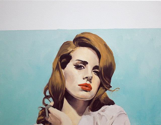 """Lana Slipping II, oil on canvas, 14"""" x 18"""", 2014."""
