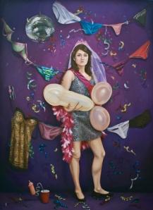 "Limelight, Spotlight, G-Spot, Oil on Canvas, 68"" x 50"", 2013"
