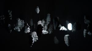 Music Box mobile-light-sound installation, 1.5 x 1.5 x 2m, 2013