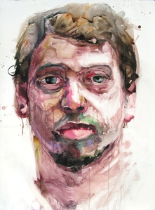 "Michael, watercolor on paper, 47""x36"", 2014"