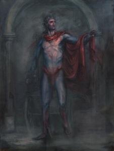 """Apollo (Son of Krypton), Oil on canvas, 18"""" x 24"""" ,2012"""