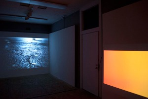 Rule of Three Installed at Howard Art Project, Boston, MA 2014  2 channel HD video