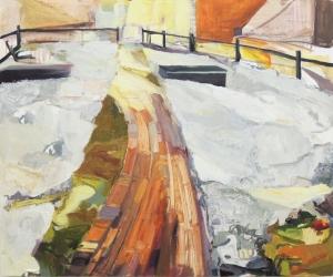 "Desire Path Oil on Wood Panel 20"" x 24"" 2014"