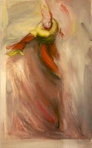 "Untitled (Prometheus/Firestorm), Oil & acrylic on canvas, 56"" x 80"", 2014"