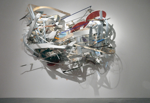 """Tectonic Limit"", Mixed Media Installation built for the show ""Everything All At Once"" Museum of Contemporary Art, Cleveland, Ohio, 2013 . H: 110 W: 130 D: 58"