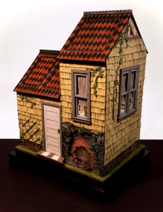 Rabbit House, 2011, mixed media construction, 19 x 14.5 x 10.5 inches