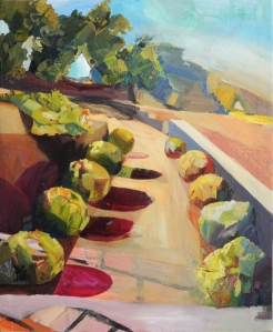 """Out of Bounds, Hearst Castle Oil on Canvas 20"""" x 36"""" 2014"""