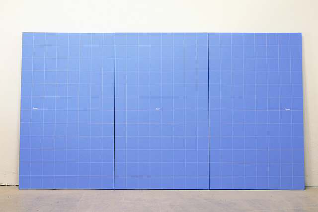 Ultramarine Blue, 2010, Acrylic paint and cotton thread on canvas