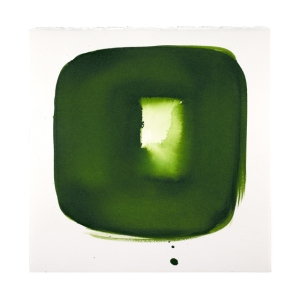 Aperture in Sap Green II 2013 11 ¼ x 11 ¼ inches acrylic on watercolor paper