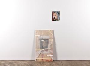"""Reflexes"", 2014, cm155x76,5,technique: acrylic paint,xerox,plexiglass,bubble wrap,cardboard"