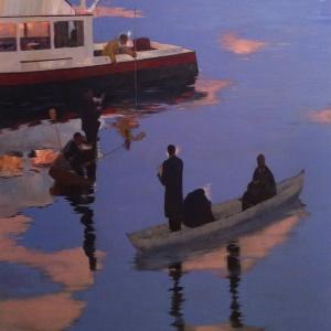 Deep Blue 60''x60'' Oil on Canvas 2014