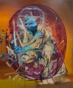 Extraordinarius - self-portrait, oil on canvas, 183x153cm, 2014