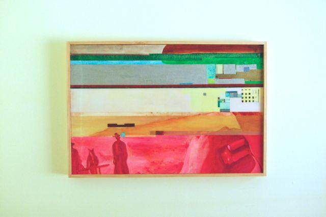 "Harmonica, 36"" x 48"", acrylic and resin, 2014"