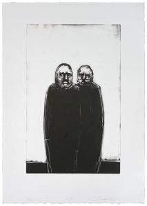 """Quorum, monotype,21"""" x 15"""", 2010"""