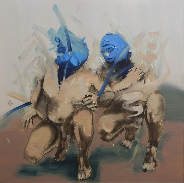 Othello I, oil on canvas, 153x153cm, 2014
