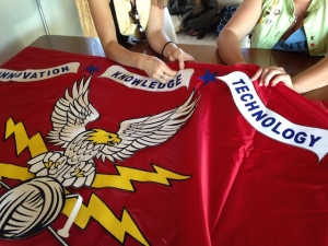 """CAPRA flag"" Sewing workshop, 2013"