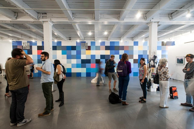 Data Horizon. Latex house paint, 45' x 12.5'. 2014