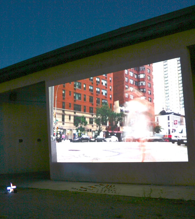 Drive In Video_Installation at Abandonded Car Wash, 2014