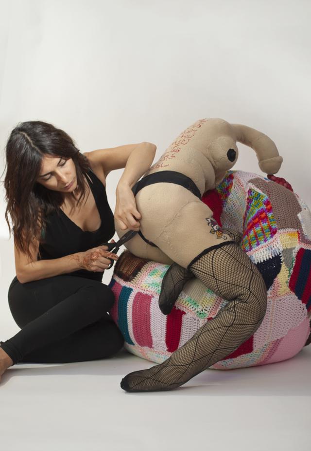 Hoda AZrbaf in her studio