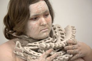 """Seize"" Performance with clay, 2014. Photo credit Liz Arenberg Metcalf"