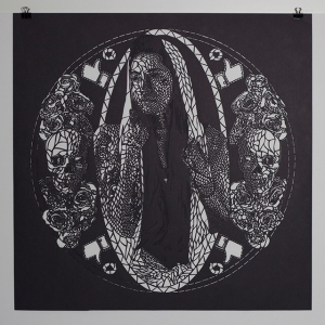 (work2) Maria de las Cholas, hand cut paper, 20_x20_,2014
