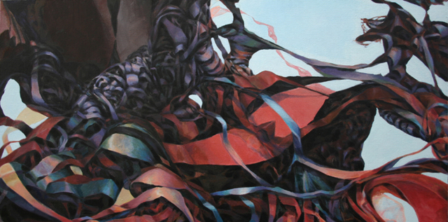 "Ascent 3, Acrylic on canvas, 15 x 30"", 2014"