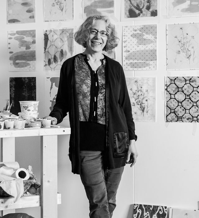 Anne Krinsky in studio