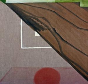 Carpet / Leg X, oil on linen, 36 x 35 inches, 2014
