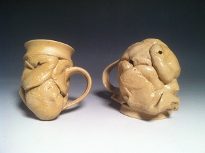 Thrown Mugs 2014 Ceramics 4 x 4 x 5""