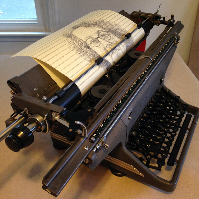 Leslie Nichols typewriter art