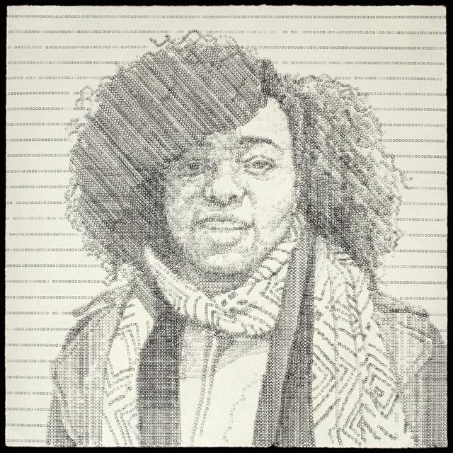 "Ebony, created on a manual typewriter, 14 x 14,"" 2014"