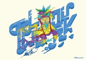 Shaman, digital illustration, 2014