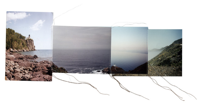 Sewn Found photography, string various sizes 2014